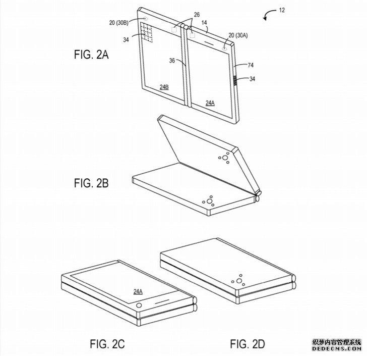 微软Surface仙女座新设备专利曝光:双屏双相机